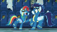 "Rainbow Dash ""bold lines and classic contours"" S6E7"