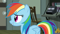 """Rainbow Dash """"find out what's going on"""" S7E18"""