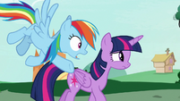 """Rainbow Dash """"you saw her mane, right?"""" S7E19"""
