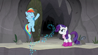 Rainbow Dash cheering excitedly S8E17