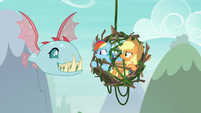 Rainbow and AJ surprised by Ocellus' new form S8E9