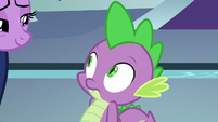 Spike looking at Twilight Sparkle S8E7
