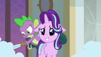 Spike putting out fires behind Starlight S8E15