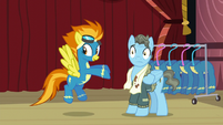 Spitfire points at Wind Rider S5E15