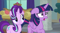 Twilight Sparkle almost caught in her lie S8E1