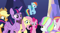 Twilight surprised by Toola and Coconut's words S7E14