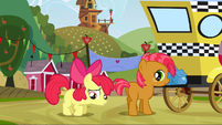 Apple Bloom sad about Babs leaving S3E8