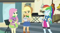 Applejack and Rainbow happy to help EGS1