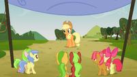Applejack starts the race S03E08