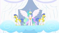Princess Celestia and her guards S1E16