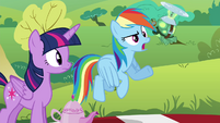 "Rainbow ""I doubt she'll notice what anypony's wearing"" S4E18"