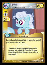 Screwy, One With the Pack card MLP CCG