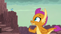 Smolder looking in Ember's direction S9E3