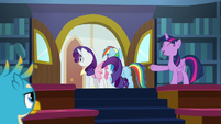 Twilight excuses Rarity and Dash from class S8E17
