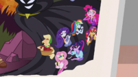 Close-up of Mane Seven on Daring Do posterboard EGS3
