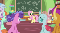 Fluttershy teaching her friendship students MLPS3