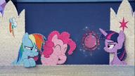 MAFH 10 Twilight zniesmaczona żartem Pinkie i Rainbow