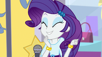 Rarity giddily proud of her concept EGS1