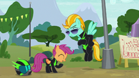 Scootaloo and Lightning Dust laughing S8E20