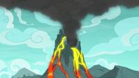 Volcano still releasing lava and smoke S7E16