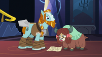 Yona reads her essay to Rockhoof S8E21