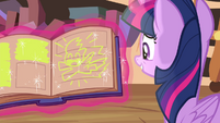 A drawing of Rainbow on the book S4E21