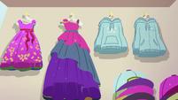 Dresses and hoodies on store display EGSB