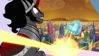 Flurry's magic blasting near King Sombra S9E1