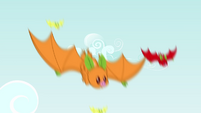 Fruit bats swooping down S3E8