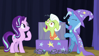 Granny Smith pops out of the trunk S8E19