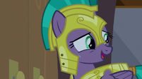 """Guard Chrysalis """"do yours get glitchy too?"""" S9E17"""