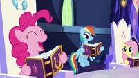 "Pinkie Pie excited ""birth-iversary!"" S7E14"