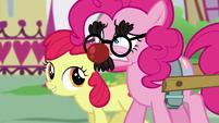 Pinkie hears Apple Bloom S5E19