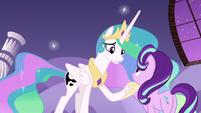 Princess Celestia comforting Starlight Glimmer S7E10