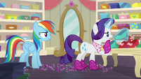 Rarity considering different shoes to buy S8E17