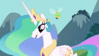S01E10 Parasprite latający nad księżniczką Celestią