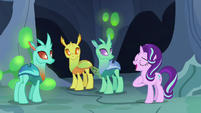 Starlight Changeling introduces herself to changelings S7E1