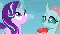 Starlight Glimmer looking at her horn S8E25
