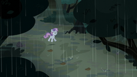 Sweetie Belle startled by lightning S5E6