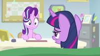 Twilight Sparkle starts to wake up MLPS4
