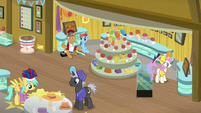 Quibble and RD surrounded by sports stuff S9E6