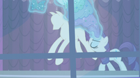 Rarity removing Princess Dresses from the racks S5E14