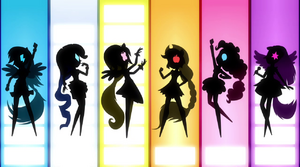 Row of Mane Six silhouettes EG2.png