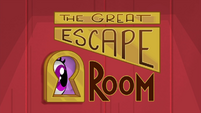 The Great Escape Room title card BGES2