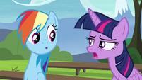 Twilight explains the E.U.P. to Rainbow S4E21