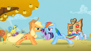 Applejack and Rainbow Dash Doing Pushups S1E13