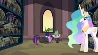 Celestia begins talking to Twilight and Spike S2E20