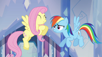 """Fluttershy and Rainbow Dash """"she's so nice!"""" S03E12"""