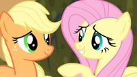 Fluttershy talking with Applejack S4E07