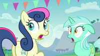 Lyra and Sweetie Drops shocked S5E24